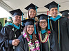 Dwayne Dagdag, Nicole Boyer, Gilbert Serrano, Grace Lau and Stacey Leong received their masters of public administration degree at the University of Hawaii at Manoa's fall commencement ceremony on December 15, 2019.