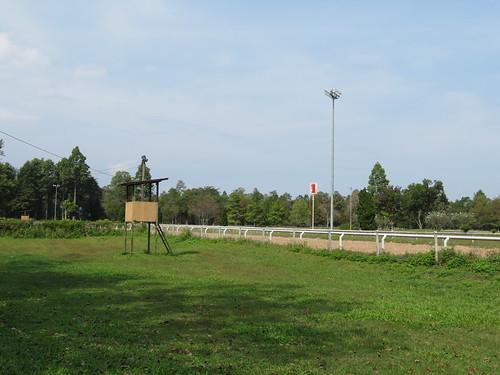チェンマイ競馬場の端っこ