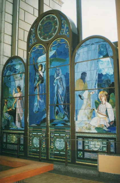 The Detroit Institute of Arts - Detroit Michigan - First Unitarian Church  - Stain Glass Window on Display