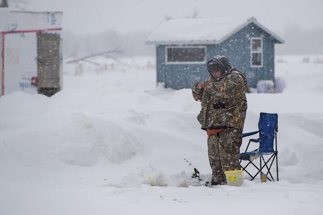 Ice Fisherman, Petrie Island, Ontario