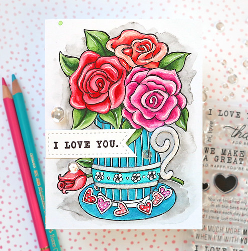 Valentine's Day Watercolor Card 3 | by suzy.plantamura