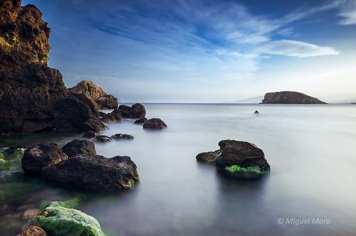 azul landscape mar marina mazarron murcia paisaje sea seascape playa beach españa spain sunset longexposure quiet