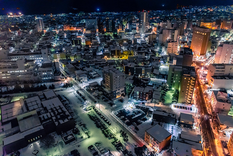 hakodate night view from Goryokaku Tower