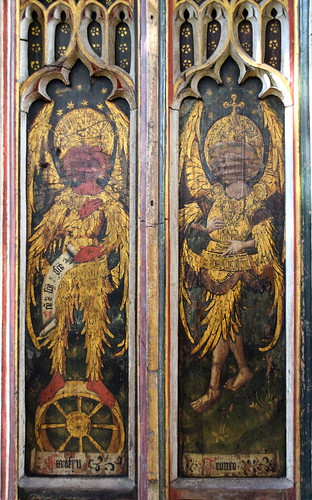 north aisle screen: principalities and virtues (15th Century) | by Simon_K