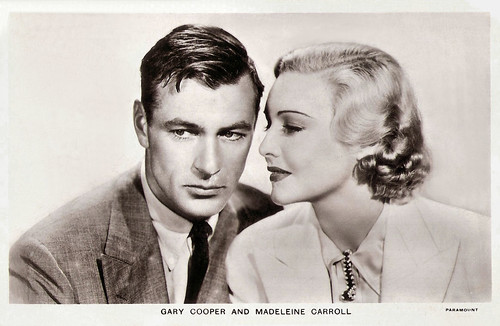 Madeleine Carroll and Gary Cooper in The General Died at Dawn (1936)