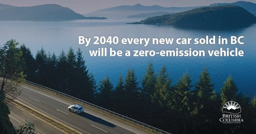 Provincial government puts B.C. on path to 100% zero-emission vehicle sales by 2040
