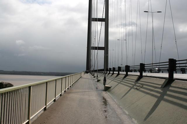 Crossing the Humber Bridge