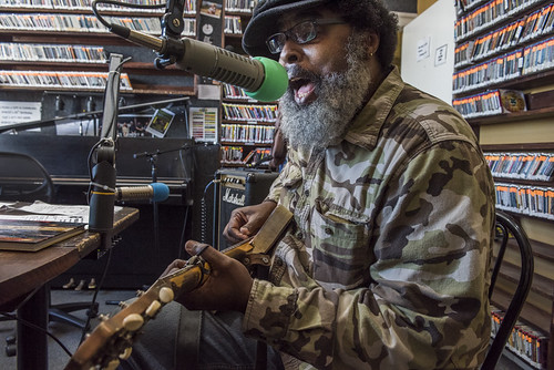 Alvin Youngblood Hart at WWOZ's 38th birthday celebration - 12.4.18. Photo by Ryan Hodgson-Rigsbee rhrphoto.com.