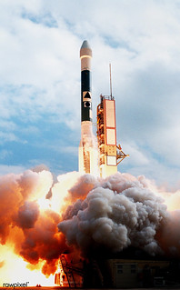 A Boeing Delta II expendable launch vehicle lifts off with NASA's Mars Climate Orbiter on Dec. 11, 1998, from Launch Complex 17A, Cape Canaveral Air Station. Original from NASA . Digitally enhanced by rawpixel.