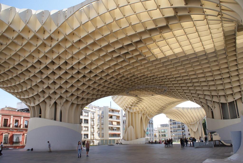 """Champignons géant à Séville : Metropol Parasol ou """"Las Setas""""."""