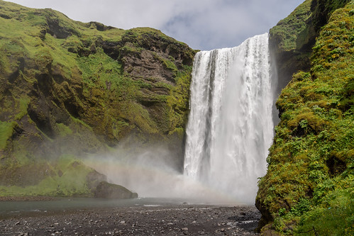 water iceland waterfall