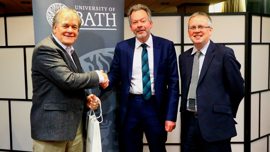 Professor Timothy Mitchell with Professors Jeremy Bradshaw (centre) and Nick Pearce (right).