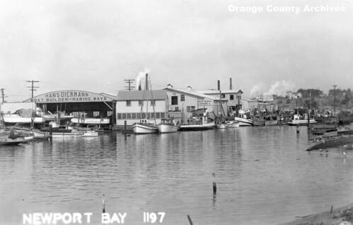 Newport Harbor, circa 1947   by Orange County Archives