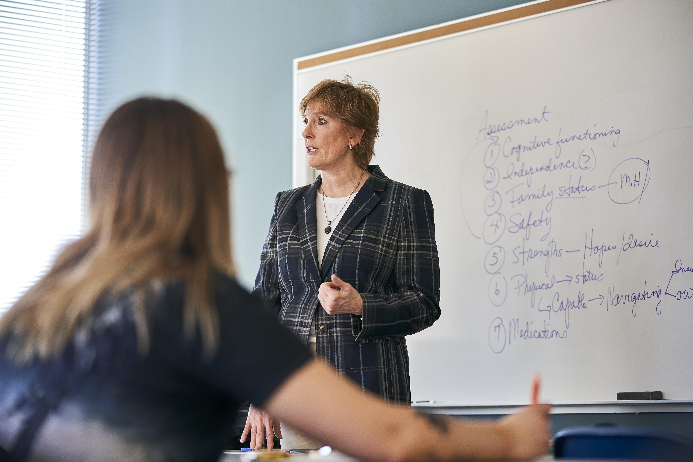 Professor in Social Work Class