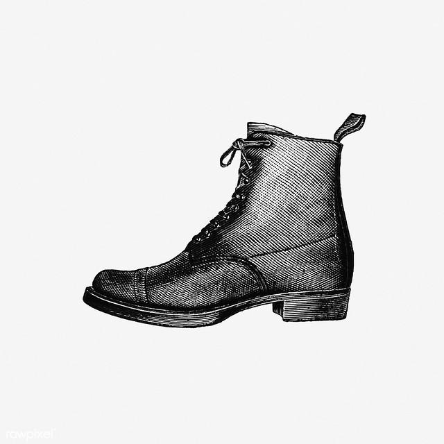 Vintage boot illustration
