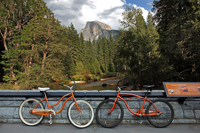 Bikes at Half Dome-Yosemite National Park-Northern California 0174