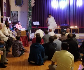 @ ISKCON Calgary, Canada, Oct 2018. Dr Keshav Anand das at the Extreme left giving lecture. | by Keshav Anand Das