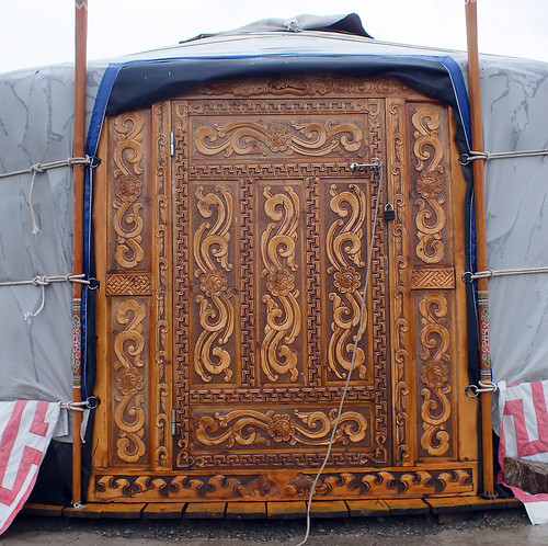 asia mongolia dragoman yurt ger wood door overland landscape dana iwachow june july 2018