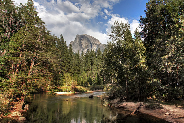 Half Dome from the Merced River-Yosemite National Park-California 00184