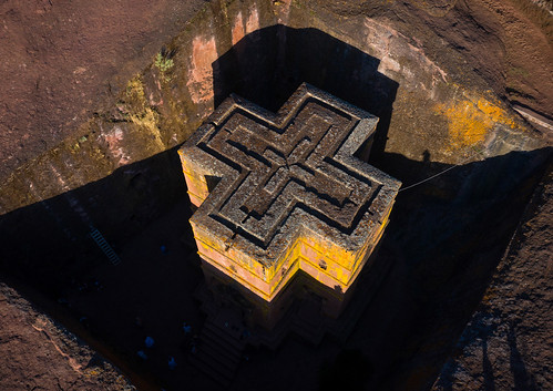 aerialview africa amhararegion ancient architecture builtstructure carving christianity church colourimage colourpicture cross day drone ethiopia ethiopia18dr0237 famousplace fullframe giyorgis history horizontal hornofafrica internationallandmark lalibela medieval monolithic monument nopeople orthodox orthodoxchurch outdoors photography placeofworship religion rock saintgeorge scenics spirituality stgeorge stgeorgeschurch traveldestinations unescoworldheritagesite et