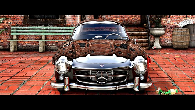 Mercedes - Benz 300SL by Vans123 | BlackV 4K
