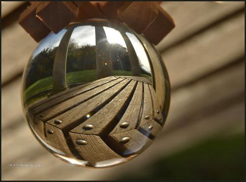 reigatehillpagoda reigatehill surrey glassglobe reflections views abstract nikond7000 nikon18200lens