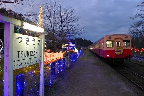12月には駅がイルミネーション会場になる