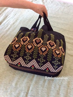 Classical Tulip Tote Bag | by Beelationship Embroidery Studio