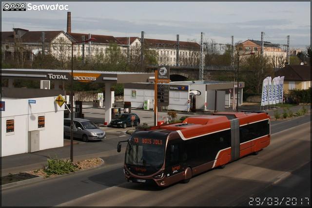 Iveco Bus Créalis 18 GNC - Setram (Société d'Économie Mixte des TRansports en commun de l'Agglomération Mancelle) n°306