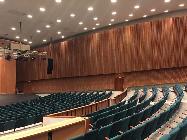 1956/57 Berlin-W. Saal in Schwangere Auster genannter Interbau-Kongreßhalle von Hugh Stubbins John-Foster-Dulles-Allee 10 in 10557 Tiergarten