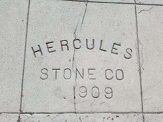 Sidewalk Date Marker - Hercules Stone Company - San Diego - 1909