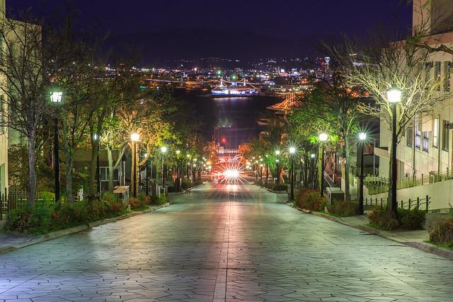 八幡坂(夜景)