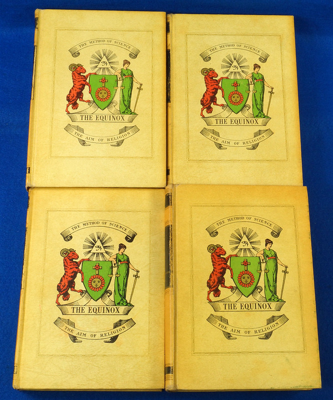 RD26573 The Equinox Review of Scientific Illuminism 1974 Vol. 1 Complete Set of 10 Books Aleister Crowley Occult Magic DSC08469