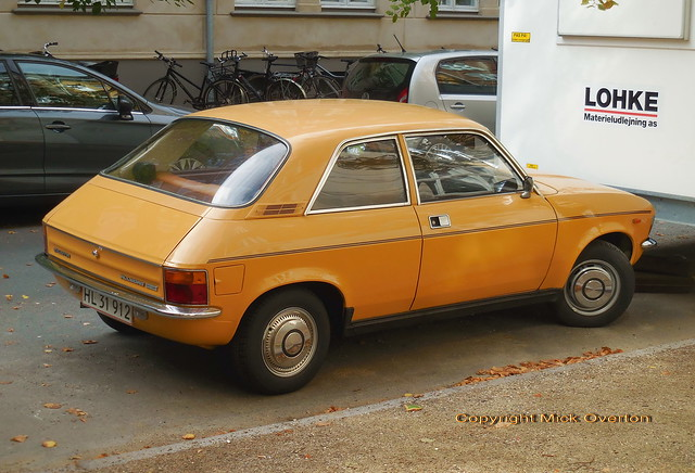 Immaculate Sandglow Austin Allegro HL31912 still on the roads of Denmark