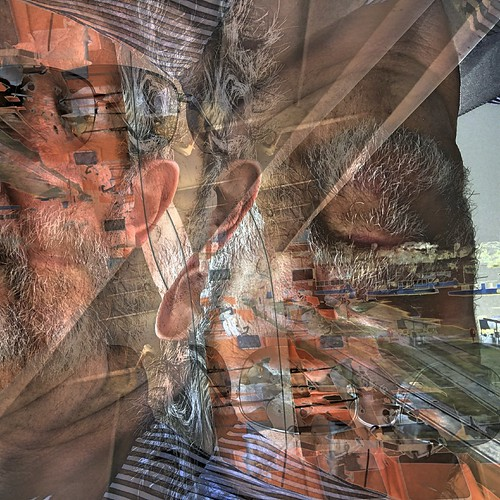 introvertedsplitpersonality introverted split personality shockofthenew selfie seriously greatphotopro hdrcomposite 3layers 3 exposures square rotation awardtree