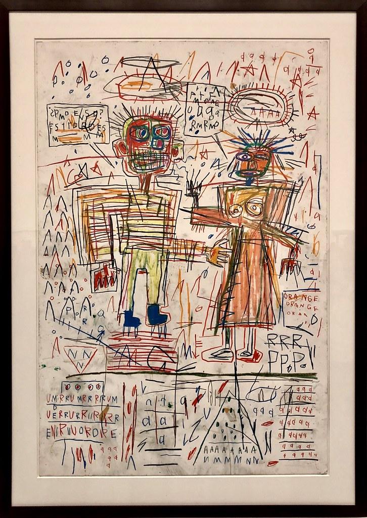 Self-Portrait with Suzanne, 1982, Jean-Michel Basquiat