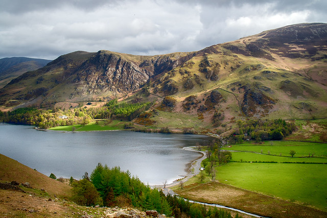 Looking down on Buttermere.