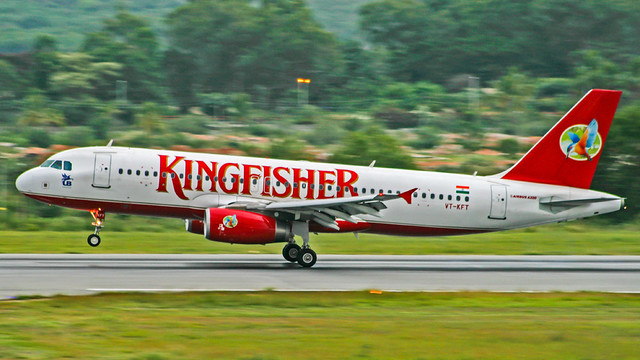Kingfisher Airbus A320 VT-KFT Bangalore (VOBG)