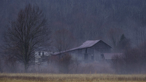 Abandoned Farm on a Rainy Winter Day | by David Guidas