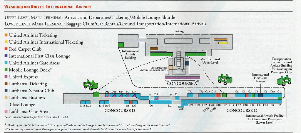 Airline Maps — United Washington Dulles diagrams, 1997-2002...