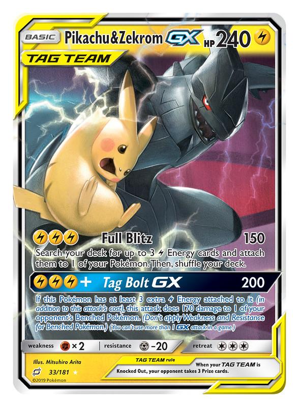 TAG TEAM Pokémon-GX_Pikachu & Zekrom