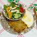 Pork Schnitzel & Eggs & Salad