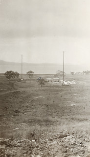 Wireless radio station showing sand-bag redoubts, F. S. Burnell, State Library Of New South Wales PXA 2165