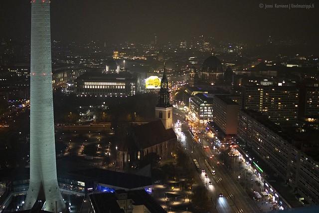Näkymä Park Inn Berlin -hotellin kattoterassilta
