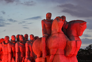 São Paulo, Brazil - Iconic Monument in Red
