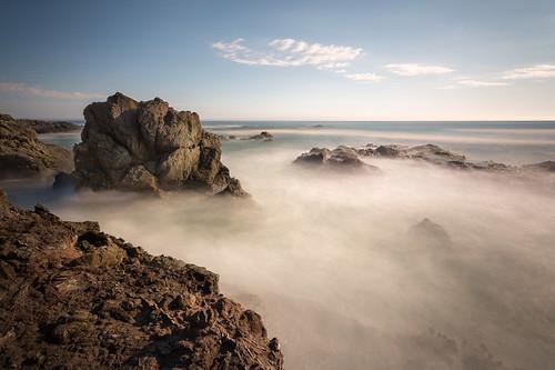 ocean california blue sunset sea summer sky seascape beach water clouds coast rocks long exposure waves waterfront oceanscape 500px