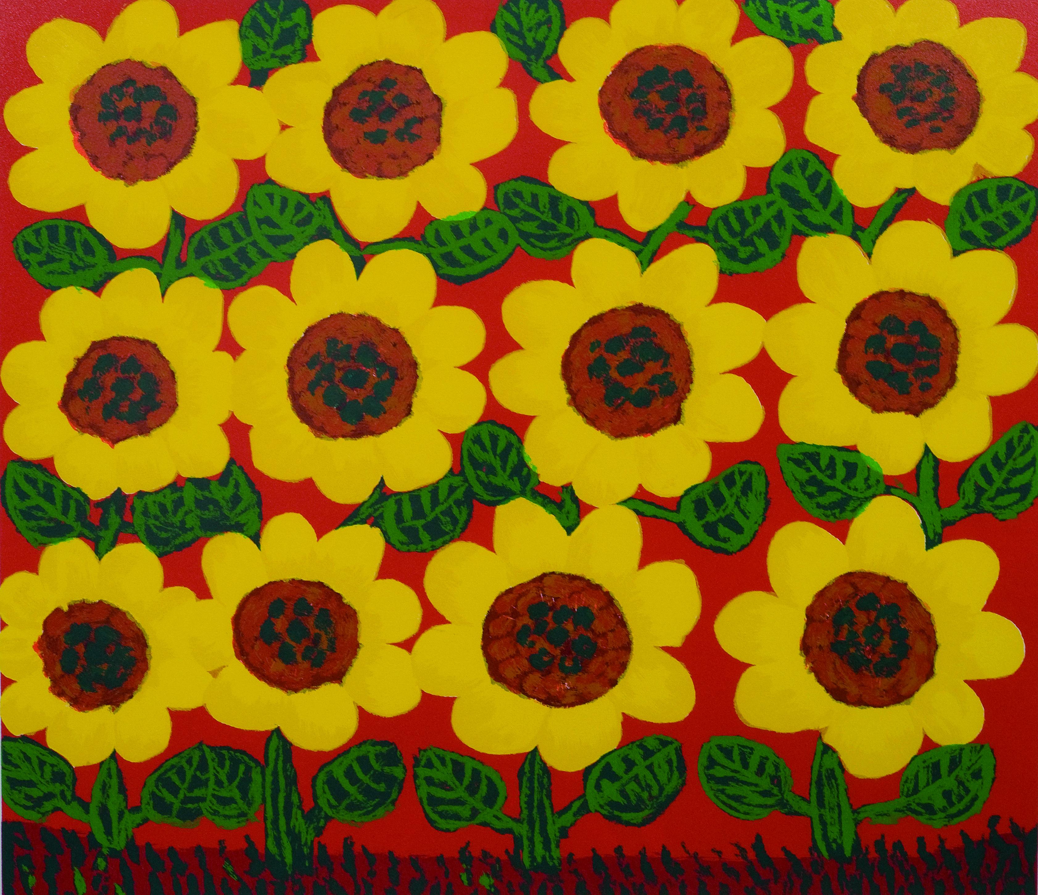 Girassol Autor: Antônio Poteiro Técnica: Serigrafia (91/120) Dimensões: 70cm x 70cm