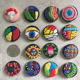 Embroidered buttons | by Meguiar