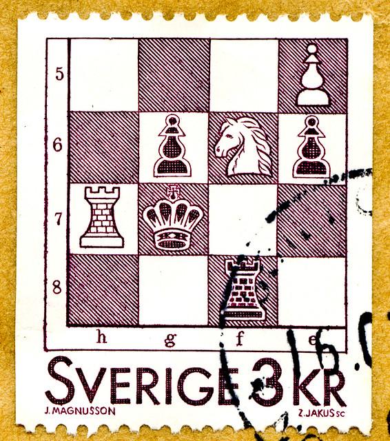 great stamp Sweden 3kr chess Schach schack échecs ajedrez xadrez шахматы šachy satranç شطرنج шах 棋 skak šah scacchi sakk szachy male チェス shakki šahs σκάκι šach sjakk schaakspel šachmatai שחמט शतरंज catur 체스 หมากรุก Scania frimärken Sverige postage Sveden