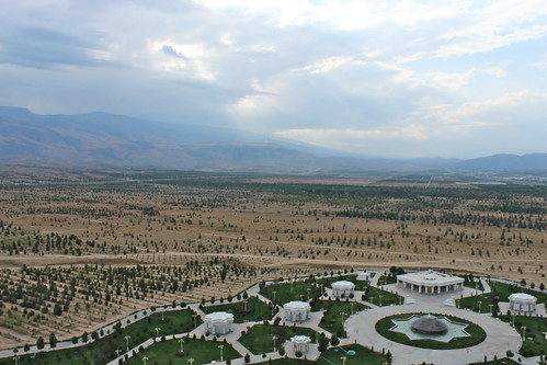 View from Bitaraplyk (Arch of Neutrality), Aşgabat | by Timon91